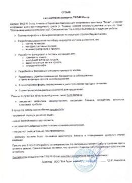 Рекомендации по структуре отделов Ледовой арены. Отзыв ООО Все будет хорошо!