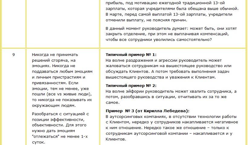 Три примера